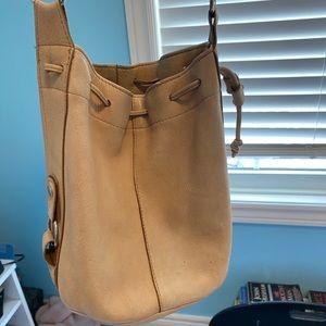 Vintage Tan Bucket Bag